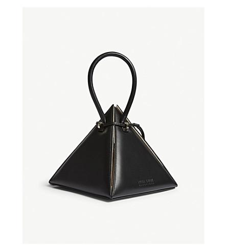 NITA SURI Lia pyramid leather handbag (Black
