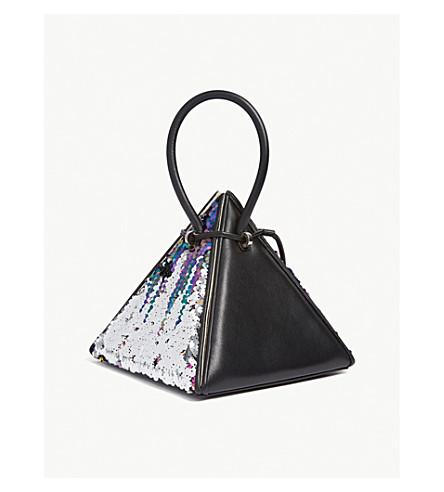 NITA SURI Lia Sequinned Leather Handbag in Multi  / Black