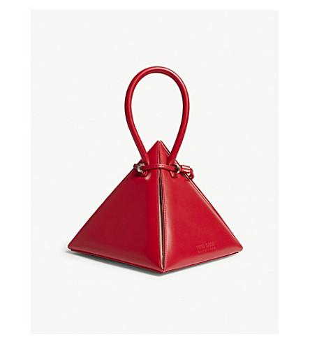 NITA SURI Lia pyramid leather handbag (Red