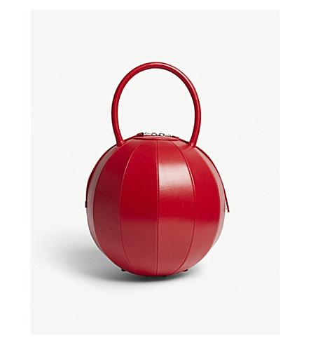 NITA SURI Pilo round leather handbag (Red
