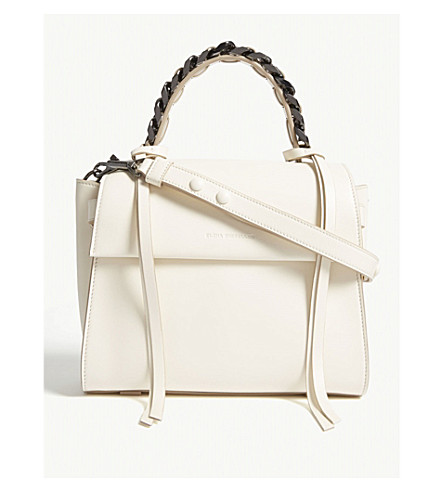 ELENA GHISELLINI Angel small leather shoulder bag (Ivory