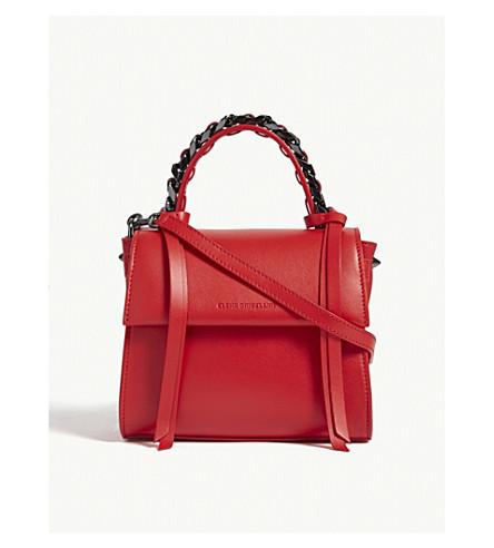 ELENA GHISELLINI Angel extra small leather shoulder bag (Scarlet