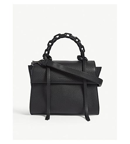 ELENA GHISELLINI Angel small leather shoulder bag (Black