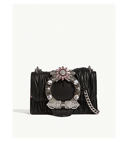 6c4eb00f024 MIU MIU - Miu Lady matelassé leather shoulder bag   Selfridges.com