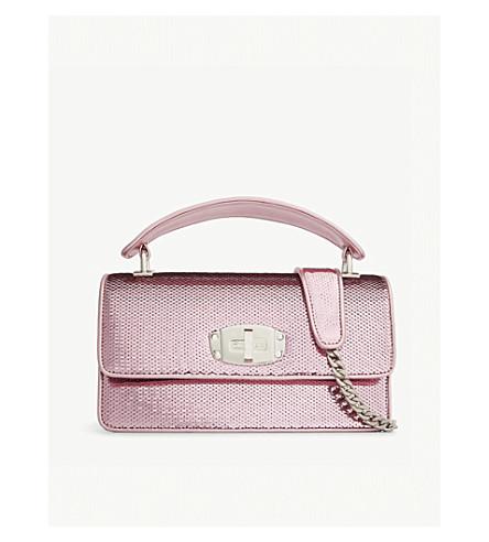 MIU MIU Sequinned leather shoulder bag (Pink