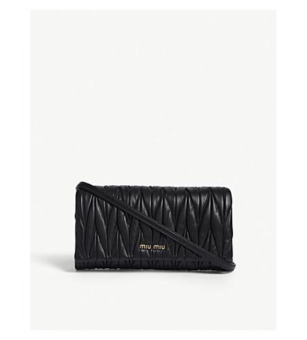 MIU MIU Matelassé nappa-leather clutch (Black