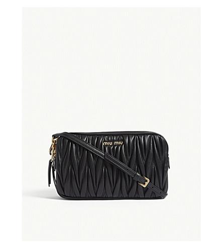 MIU MIU Matelassé leather cross-body bag (Black