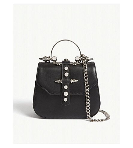 OKHTEIN Edge mini leather cross-body bag (Black