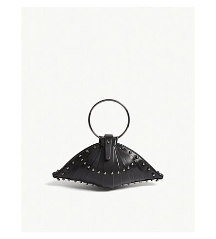 UNA BURKE Shell leather bag (Black+gunmetal