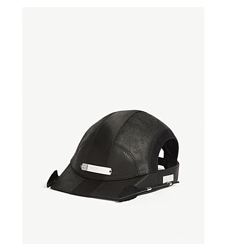 HOUSE OF MALAKAI Cut-out feather cap (Black+silver