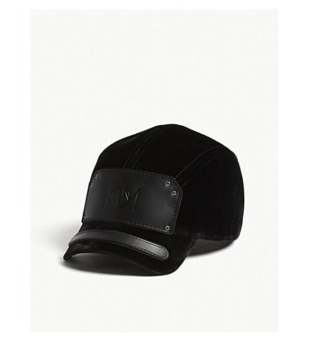 HOUSE OF MALAKAI Velvet baseball cap (Black+silver