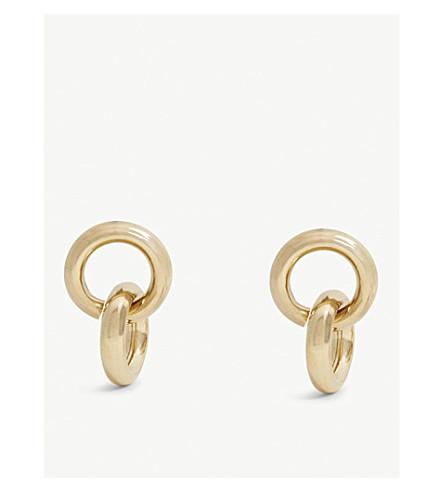 LAURA LOMBARDI Link brass earrings
