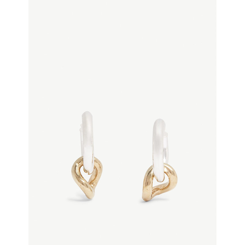 LAURA LOMBARDI Onda Charm sterling silver and brass earrings