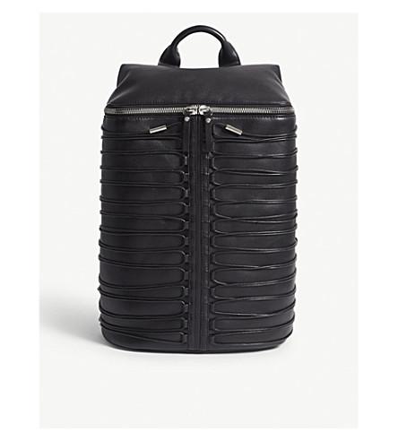 OBERKAMPF Laced leather backpack (Black