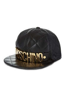MOSCHINO Quilted logo cap