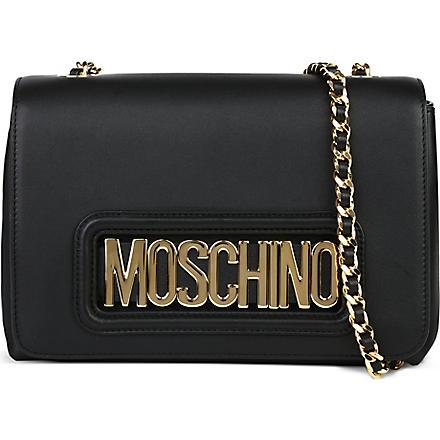 MOSCHINO Letter chain mini cross body bag (Black