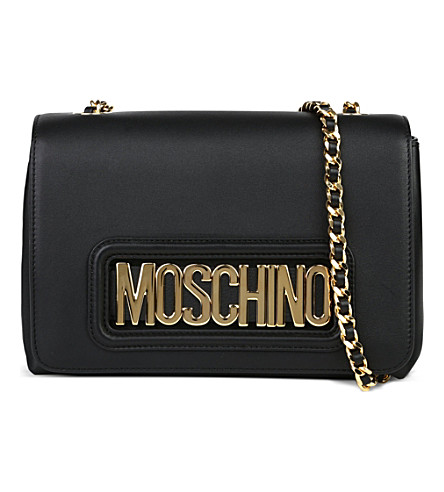 MOSCHINO Letter chain mini cross body bag (Black