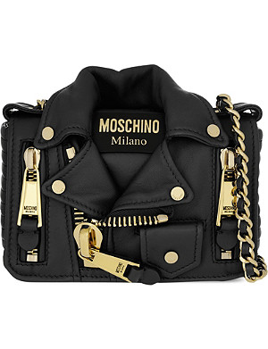 MOSCHINO Biker jacket cross body bag