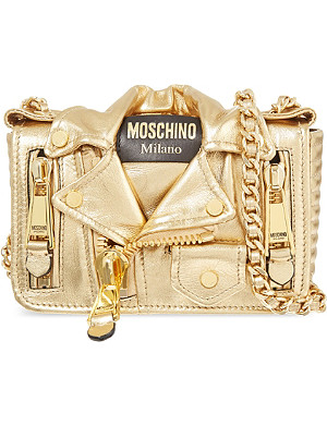 MOSCHINO Jacket chain leather bag