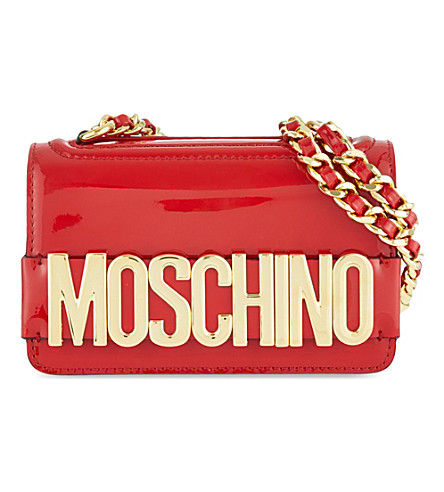 MOSCHINO Patent leather bag (Red