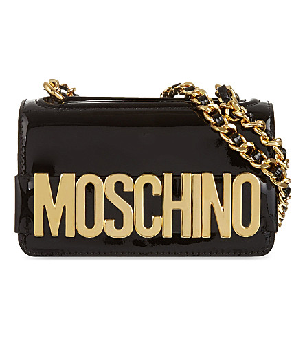 MOSCHINO Patent leather bag (Black