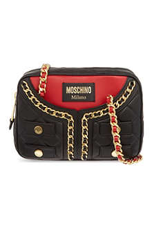 MOSCHINO Small quilted jacket shoulder bag