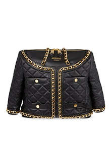MOSCHINO Large quilted jacket chain bag