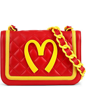 MOSCHINO Medium quilted leather shoulder bag