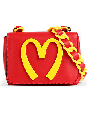 MOSCHINO Small leather shoulder bag