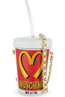 MOSCHINO M drink leather cross-body bag