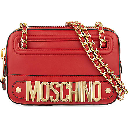 MOSCHINO Leather shoulder bag (Red