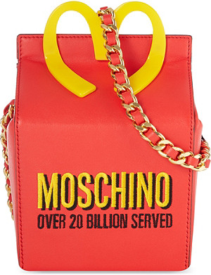 MOSCHINO Happy Meal leather chain bag