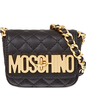MOSCHINO Quilted chain cross-body bag