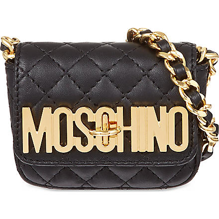 MOSCHINO Quilted chain cross-body bag (Black
