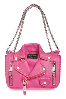 MOSCHINO Biker jacket leather shoulder bag