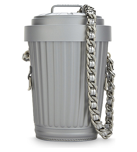MOSCHINO Cross-body bin bag (Grey