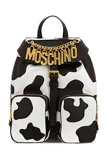 MOSCHINO Cow leather backpack