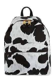MOSCHINO Cow-print charms backpack