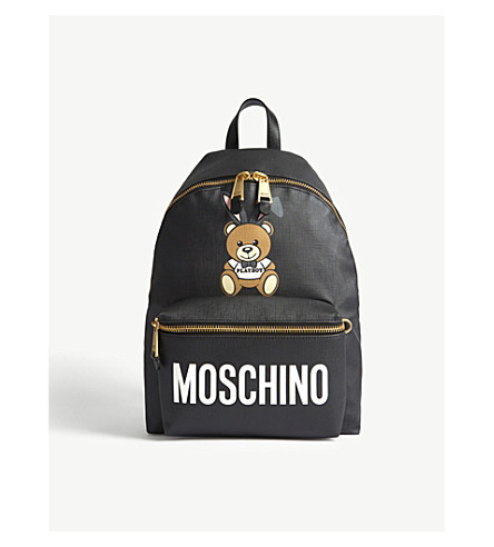 MOSCHINO Playboy teddy leather backpack (Black