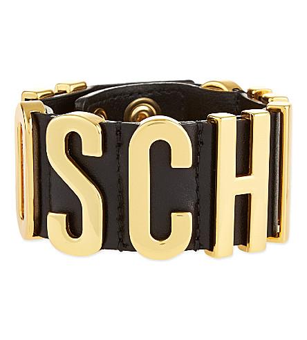MOSCHINO Logo cuff (Black