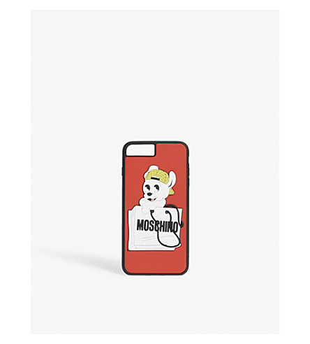 MOSCHINO Pudgy dog iPhone 7plus case (Red