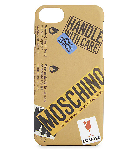 MOSCHINO Packaging iPhone 7 case (Sand