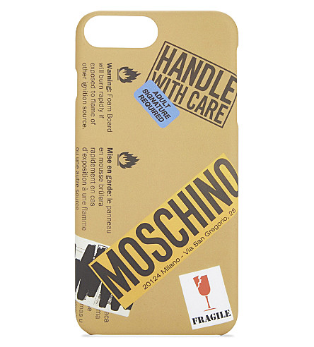 MOSCHINO Packaging iPhone 7 plus case (Sand
