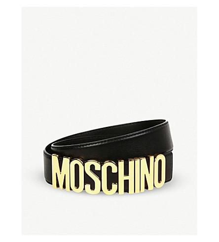 AnteriorSiguiente logotipo con Moschino de Cinturón negro BqFCOnw