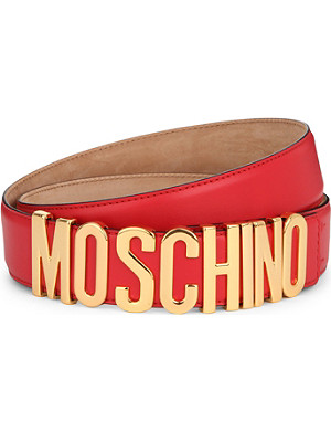 MOSCHINO Letters leather belt