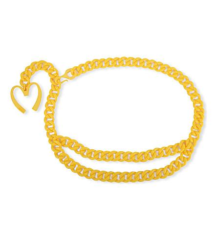 MOSCHINO Golden-arches chain belt (Yellow