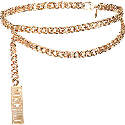 MOSCHINO Logo chain belt (Gold