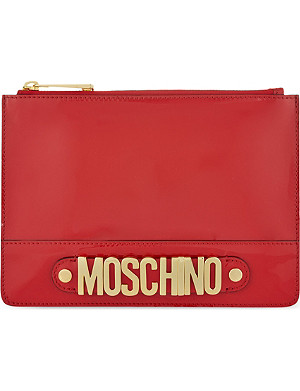 MOSCHINO Logo patent pouch