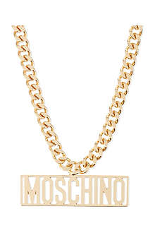 MOSCHINO Logo necklace