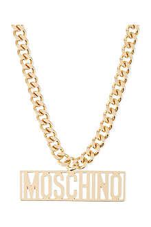 MOSCHINO Logo necklace